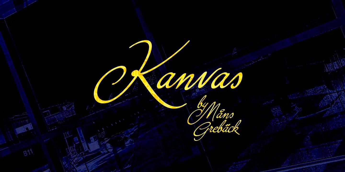 Kanvas calligraphy Script Font-1