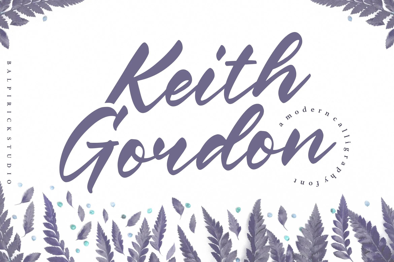 Keith Gordon Modern Calligraphy Font-1