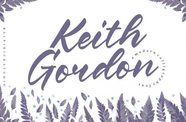 Keith Gordon Modern Calligraphy Font