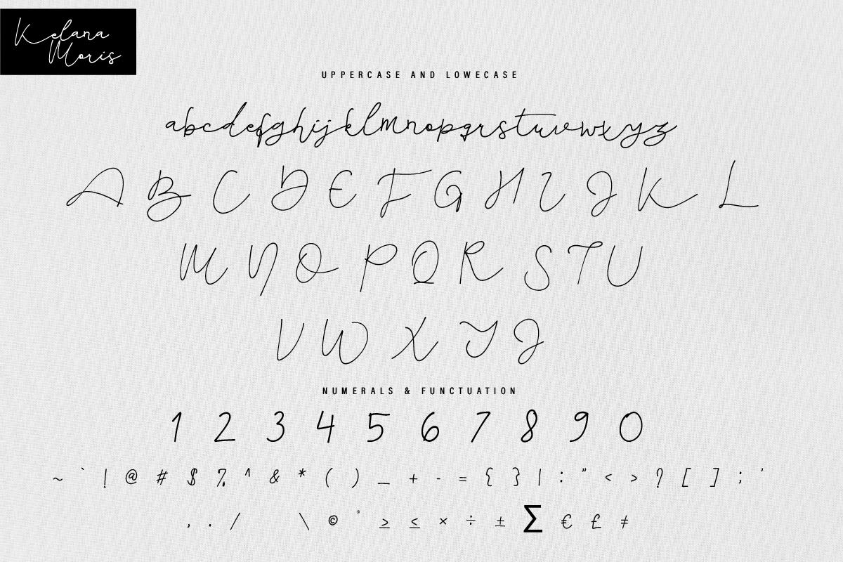 Kelana Moris Script Handwriting Font-3