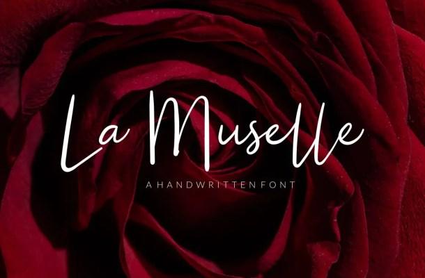La Muselle Handwritten Script Font