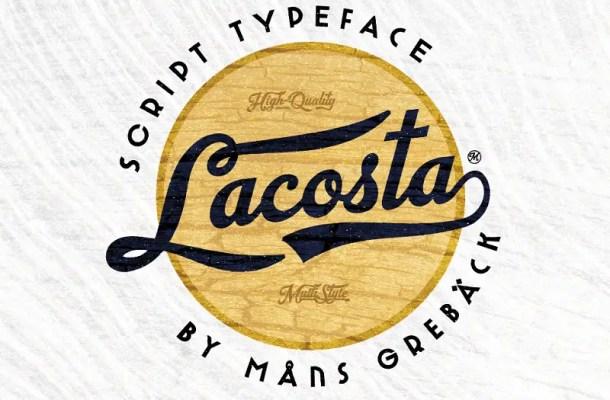 Lacosta Calligraphy Script Font