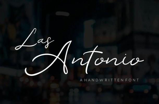 Las Antonio Handwritten Script Font