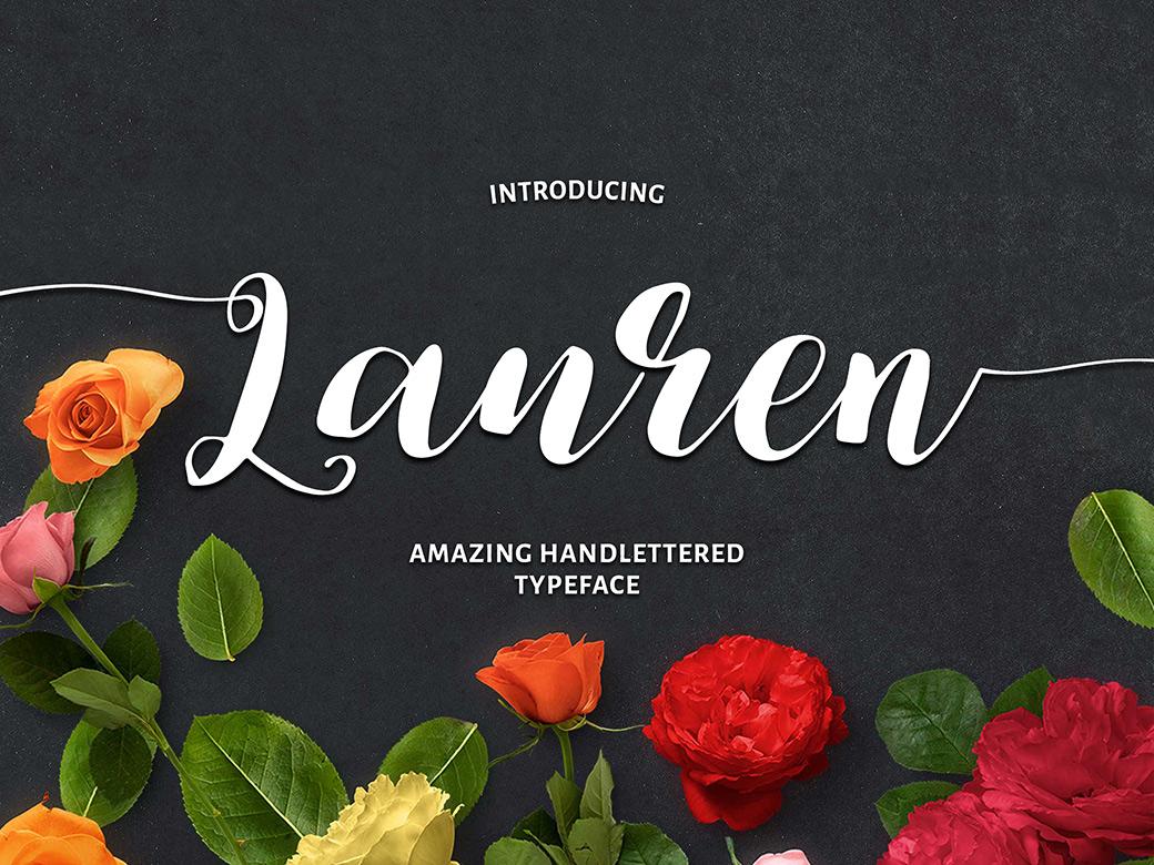 Lauren Script Calligraphy Font-1