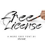 Free License Brush Script Font