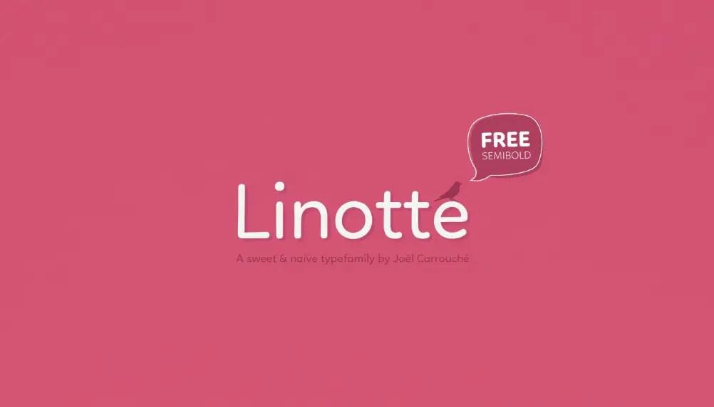Linotte Sans Serif Font family-1