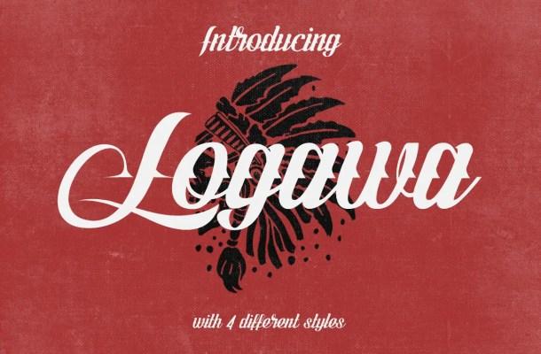 Logawa Script Font