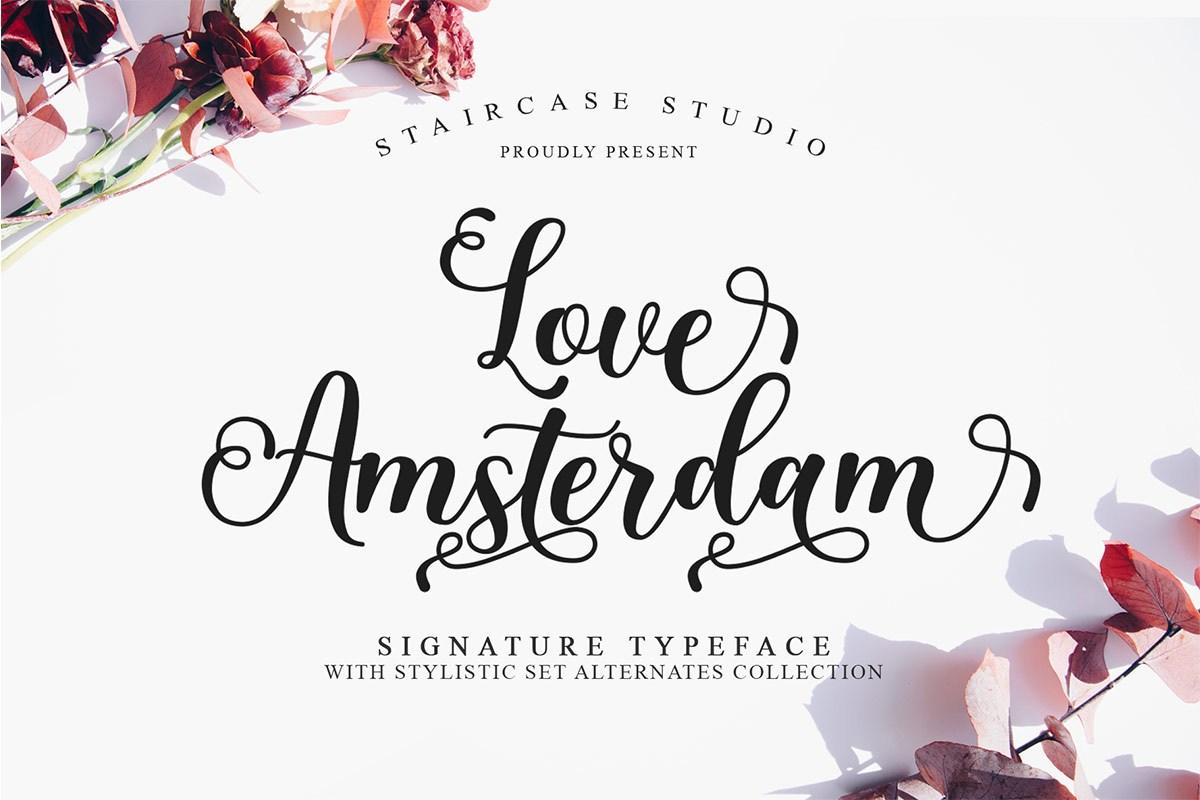 Love Amsterdam Calligraphy Script Font-1