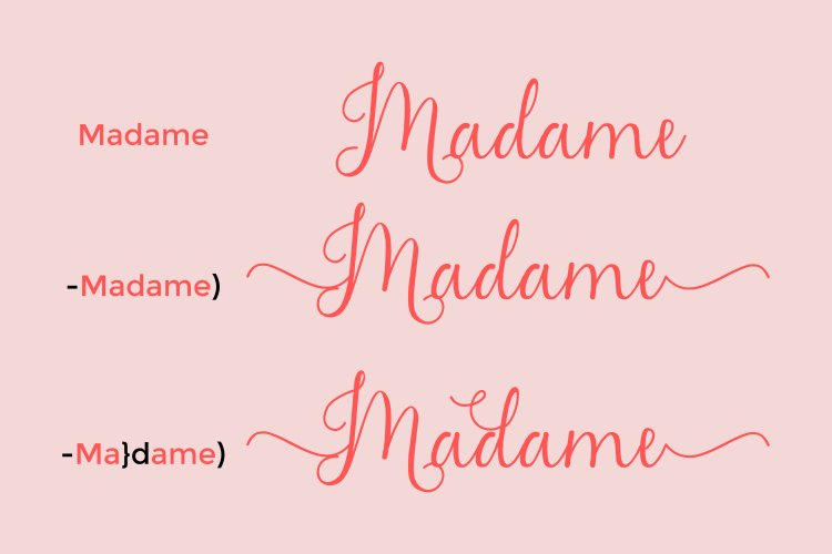 Madame Naila Lovely Modern Calligraphy Font-2