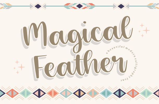 Magical Feather Handwritten Script Font