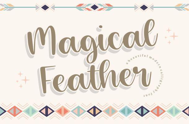 Magical Feather Handwritten Script Font