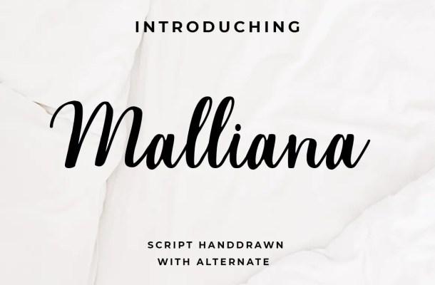 Malliana Handwritten Script Font