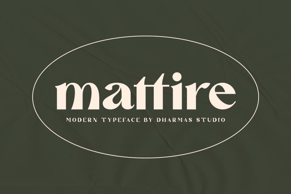 Mattire Modern Serif Typeface-1