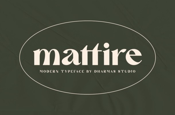 Mattire Modern Serif Typeface
