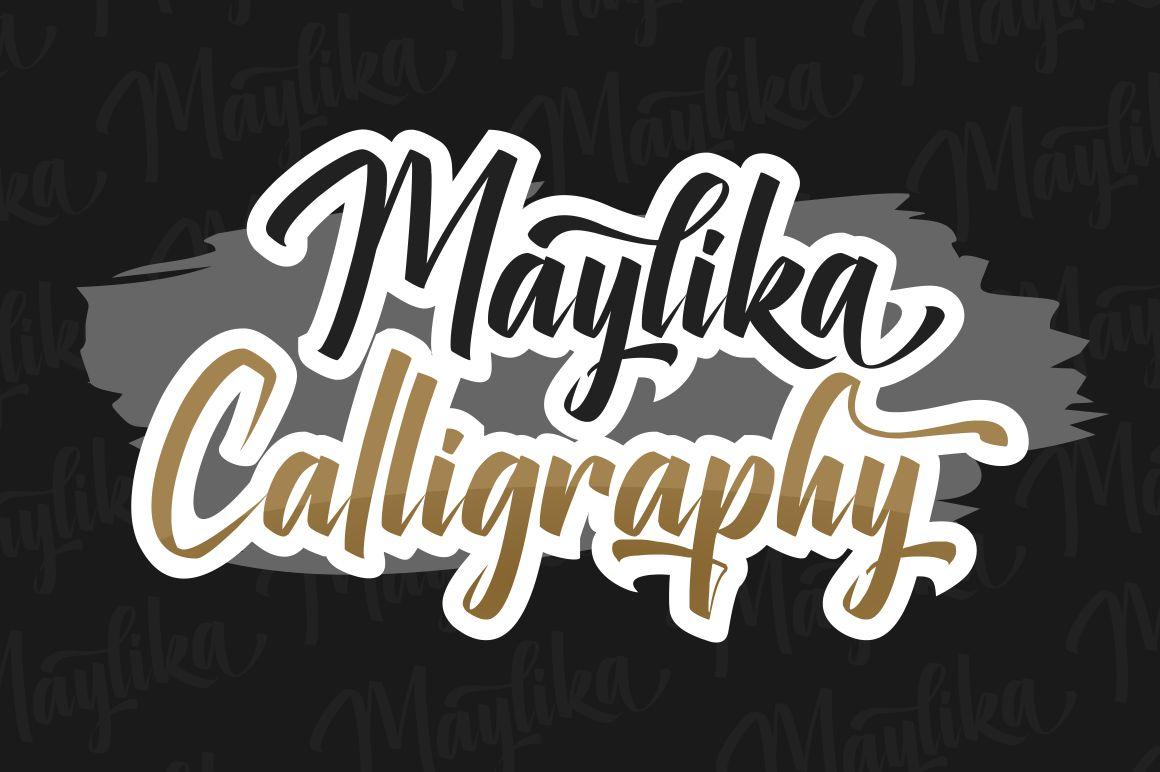 Maylika calligraphy script Font-2