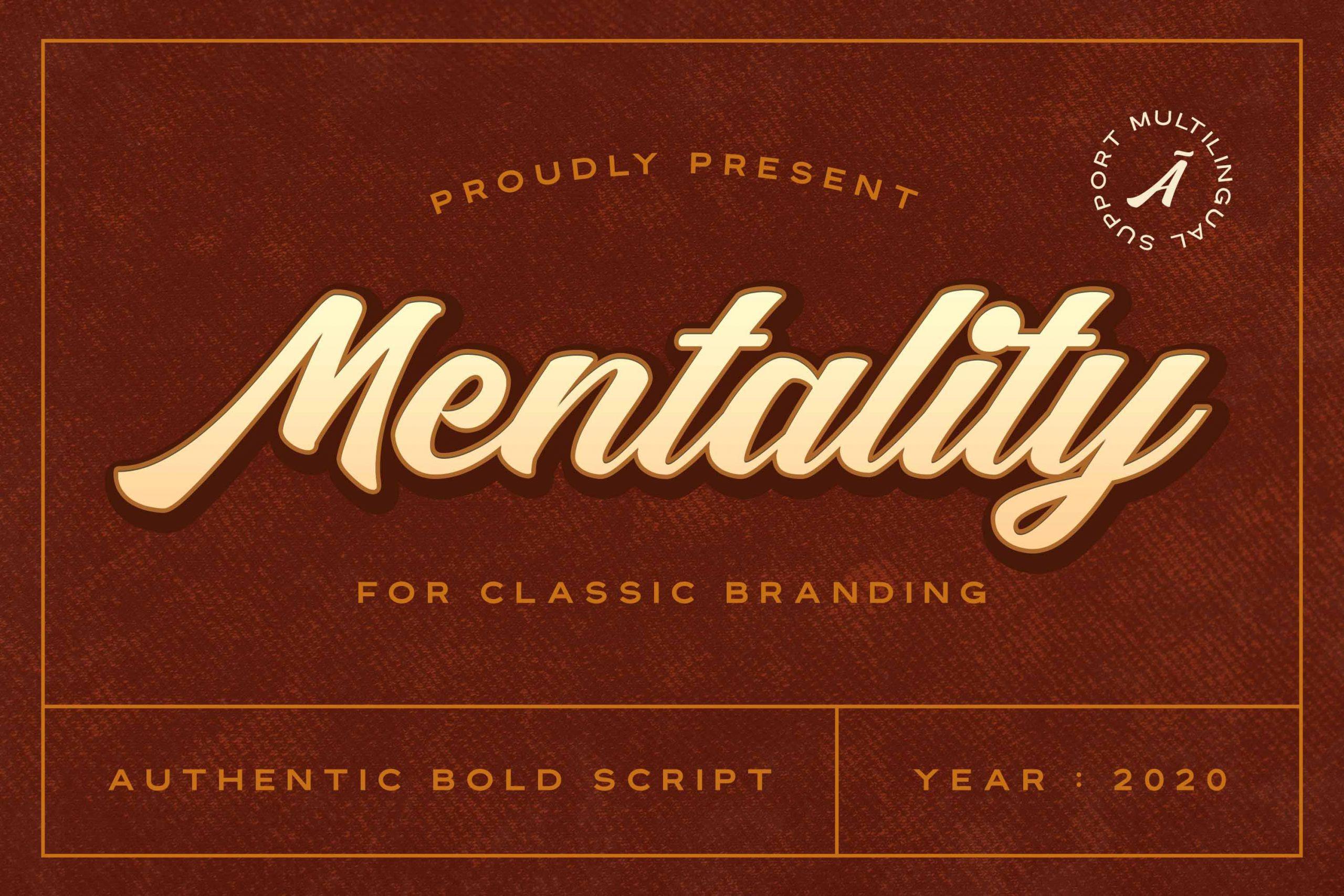 Mentality Modern Bold Script Font-1