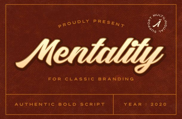 Mentality Modern Bold Script Font
