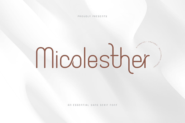 Micolesther Sans Serif Font-1