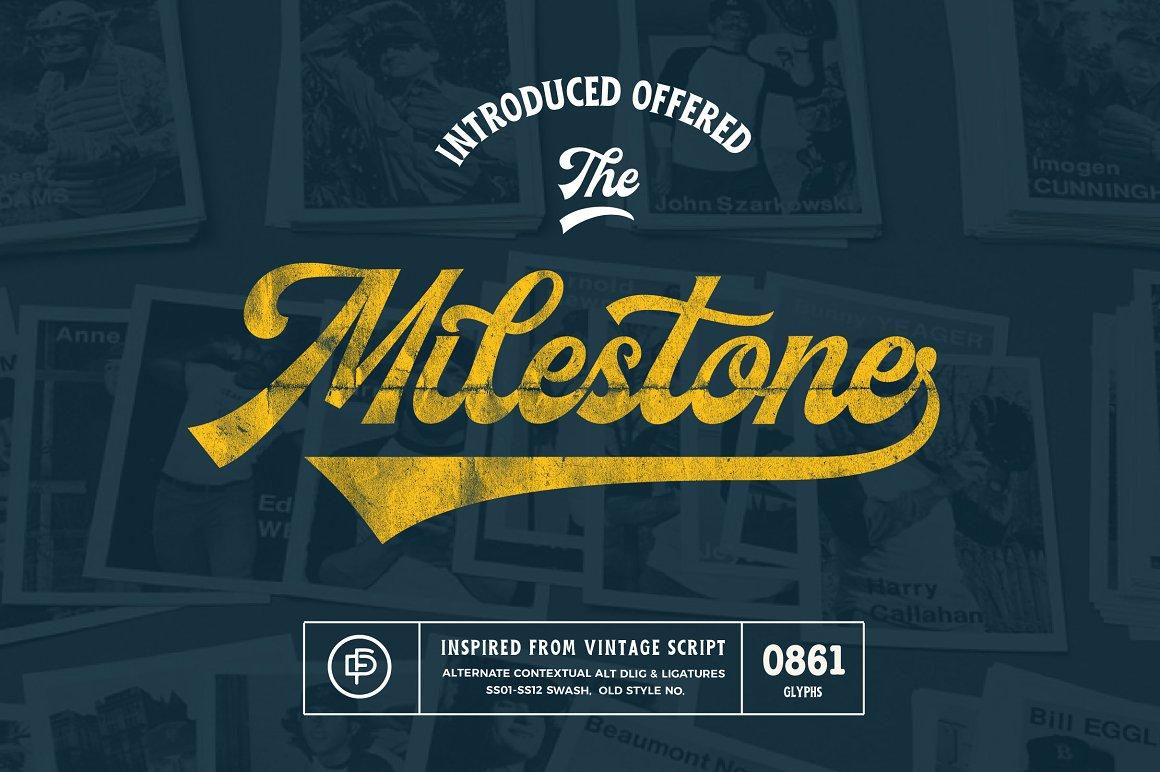 Milestone Script Font-1