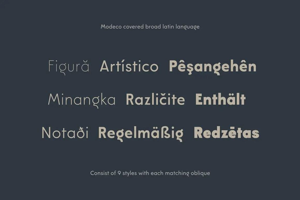 Modeco Art Deco Geometric Sans Font-3