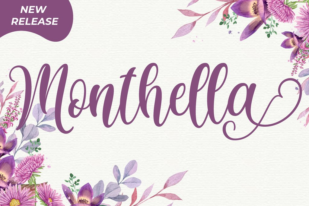 Monthella Calligraphy Script Font-1