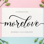 Morelove Calligraphy Script Font