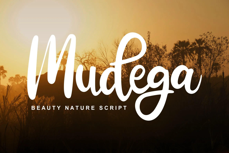 Mudega Beauty Nature Script Font-1