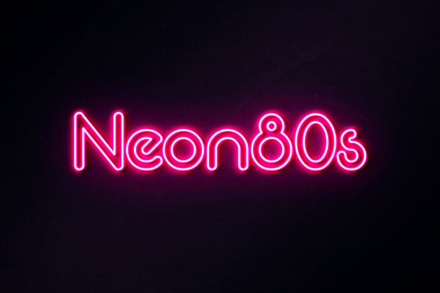 Neon 80s Fancy Font-1
