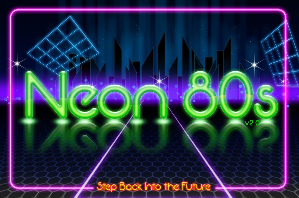 Neon 80s Fancy Font