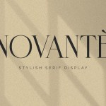 Novante Stylish Display Serif Font