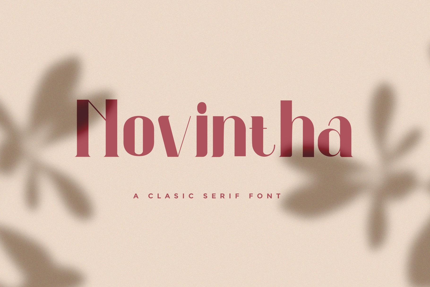 Novintha Serif Font-1