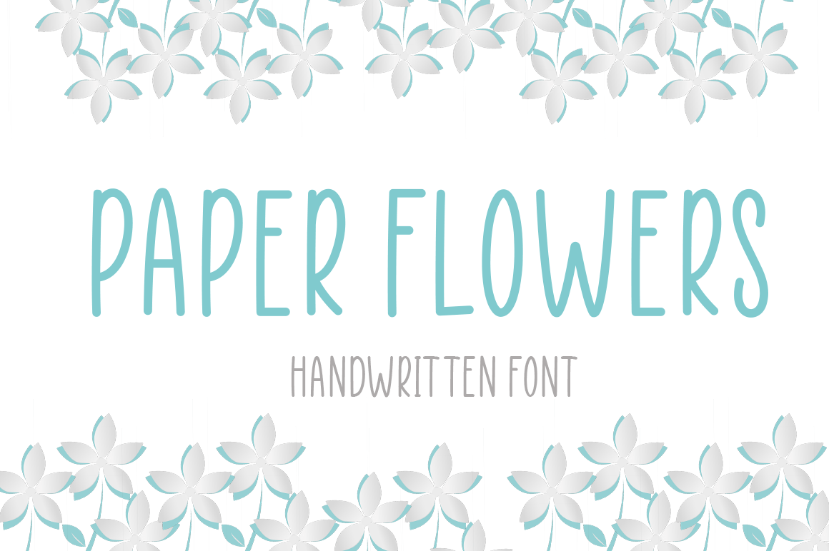 Paper Flowers Handwritten Font-1