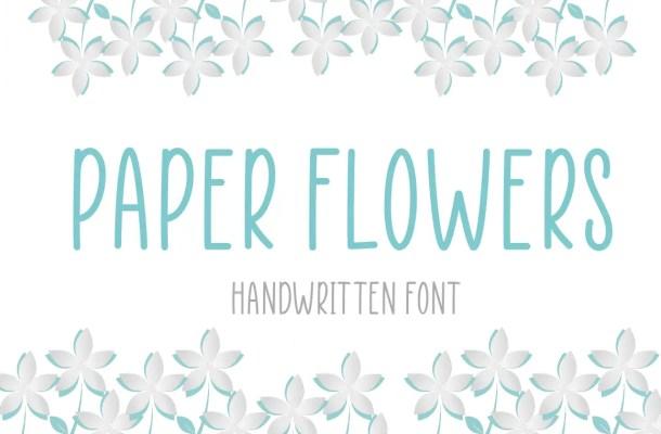 Paper Flowers Handwritten Font