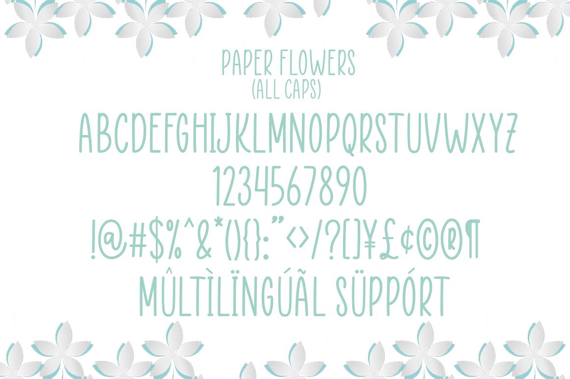 Paper Flowers Handwritten Font-3