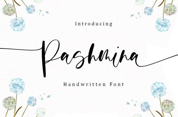 Pashmina Script Calligraphy Font