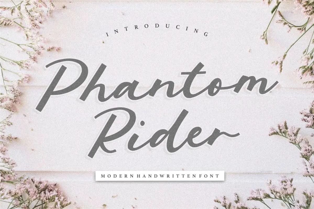 Phantom Rider Handwritten Script Font-1