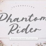 Phantom Rider Handwritten Script Font