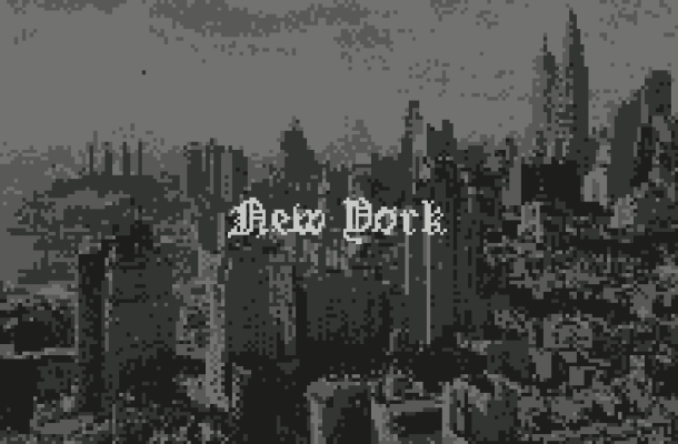 Pixeled English Blackletter Font