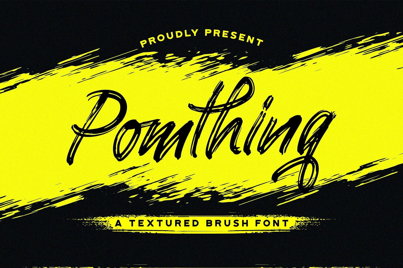 Pomthinq Brush Script Font-1 (1)