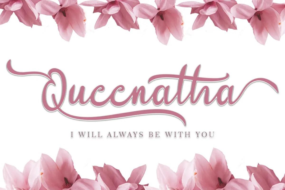Queenatha Handwritten Script Font-1