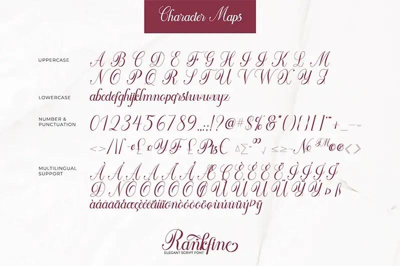 Rankfine Elegant Calligraphy Script Font-3