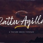 Rattu Aqilla Textured Brush Typeface