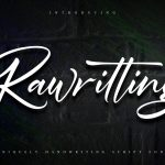 Rawriting Uniquely Handwriting Script Font