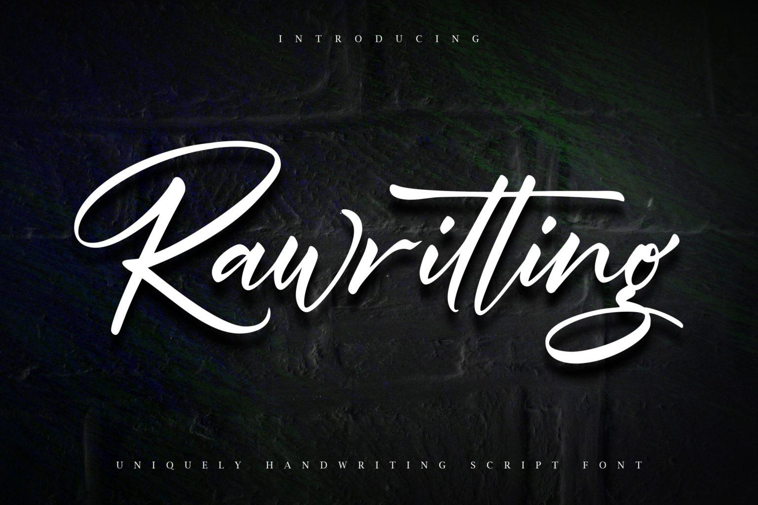 Rawriting Uniquely Handwriting Script Font-1