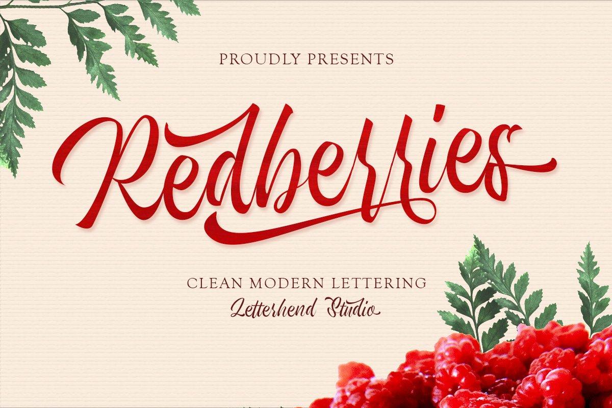 Redberries Calligraphy Script Font-1