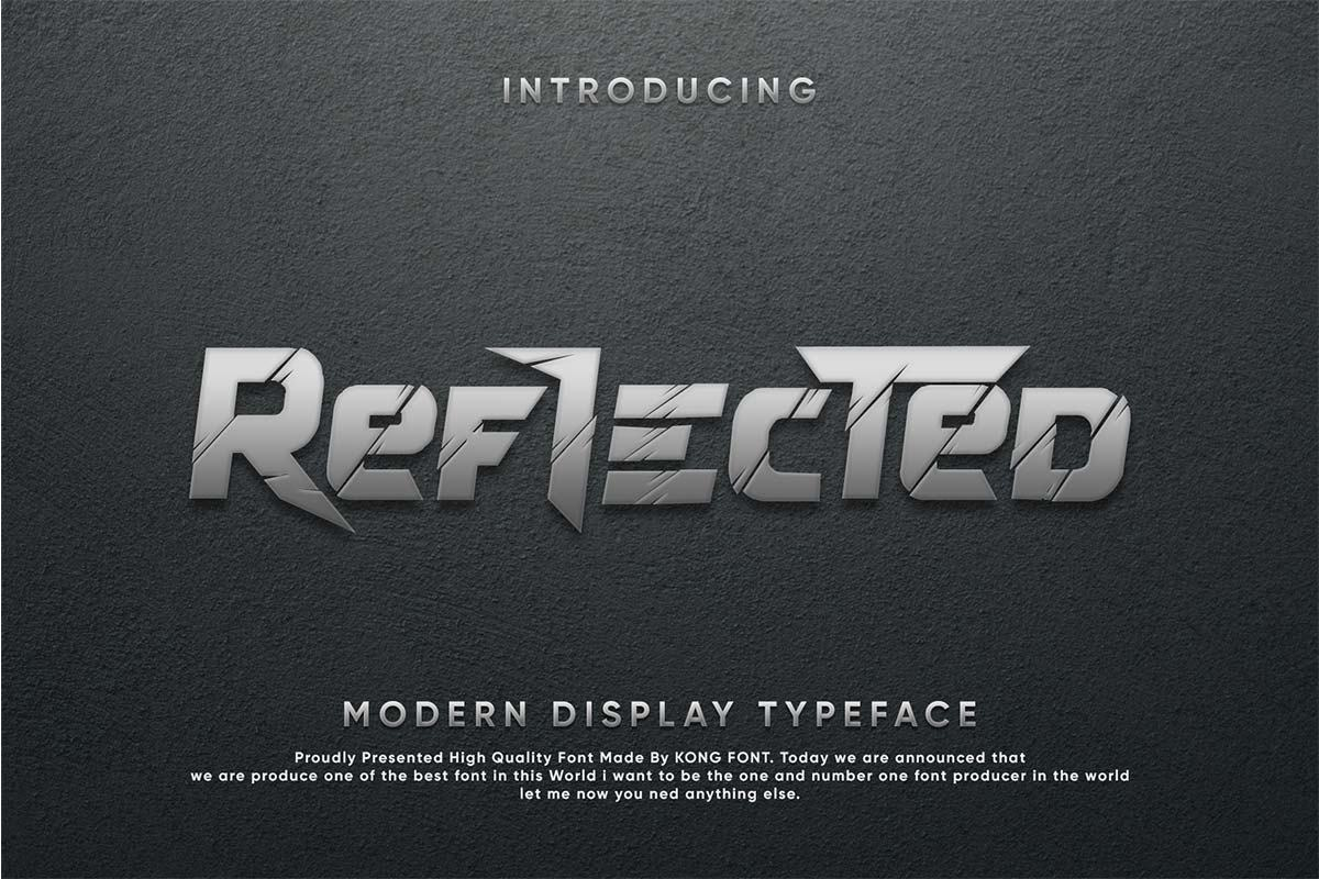 Reflected Display Typeface-1