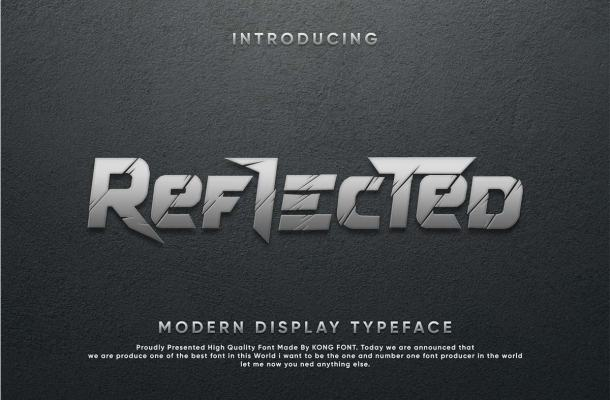 Reflected Display Typeface