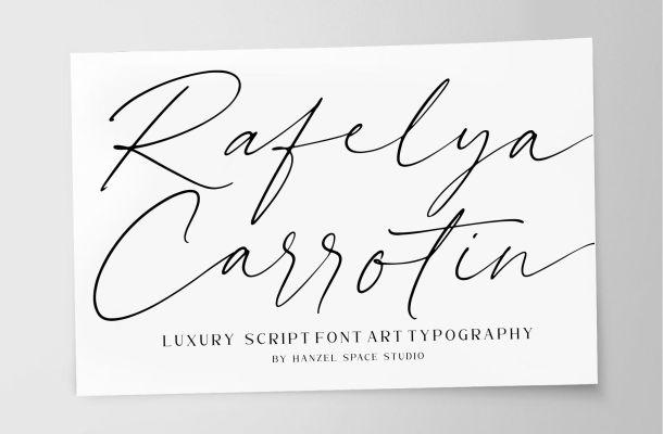 Rellyan Charlotte Handwritten Signature Font
