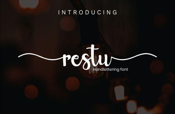 Restu Script Font