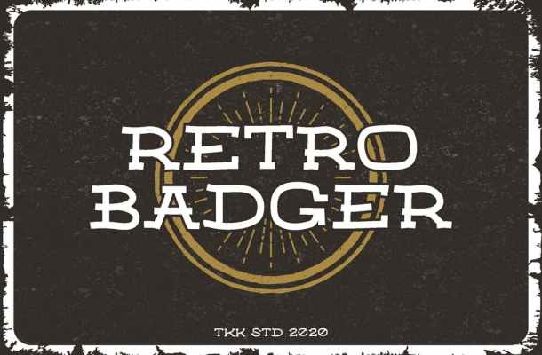 Retro Badger Serif Font